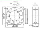 Ventilatore di CA per il fornello commerciale di induzione