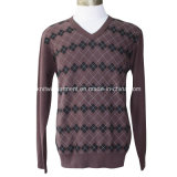 V Neck Long Sleeve (M15-047)の人Knitted Sweater Clothes