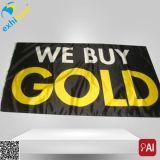 Bandera material modificada para requisitos particulares del anuncio del PVC de la impresión ULTRAVIOLETA de la alta calidad