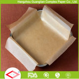 Ovenable doble lados recubierto de silicona pre-corte de papel para hornear