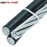 Aluminiumleiter 0.6/1kv PET-XLPE Isolier-ABC-Triplex Kabel-Bedingungen