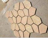 Pizarra/cuarzo/granito/mármol/azulejo/cuarto de baño de Cutural/suelo de piedra/azulejo de piedra/verde/negro/amarillo/gris/amarillento/Brown/pizarra rústica