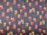Tissu de polyester d'impression de hiboux d'Oxford 420d 600d Ripstop