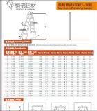 8steps는 가구를 위한 용접 사다리 알루미늄 사다리를 미터로 잰다
