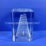 Precio cristalino de la máquina de grabado del laser de la fabricación 3D de China