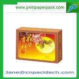 Rectángulo de empaquetado de encargo de Mooncake de la torta de chocolate del papel revestido ISO9001 del arte