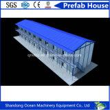 Casa pré-fabricada personalizada do baixo custo do material de construção leve da construção de aço