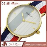 Reloj impermeable del cuarzo de encargo de cristal mineral de las señoras