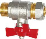 Resistencia a la válvula de latón de corte de alta temperatura