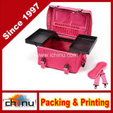2 em 1 Professional Makeup Artist Rolling Makeup Train Case