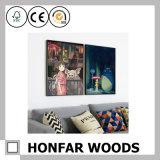 Cadre de tableau argenté européen en bois solide pour la décoration de bureau