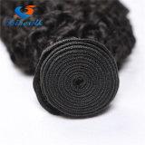 Монгольский Kinky Weave 100% человеческих волос курчавых волос связывает естественный черный цвет волосы Remy Afro 1 части Kinky курчавые