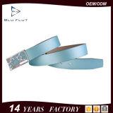 De kwaliteit verzekerde de Recentste Riemen van het Leer van de Gesp van het Ontwerp Glijdende Blauwe
