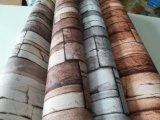PVC bon marché du papier peint 3D de brique de largeur de 106cm de décoration large de maison