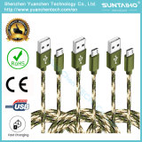 van de Micro- USB van de Stof van 3m de Nieuwe Nylon Gevlechte Kabel Lader van het Koord voor Samsung