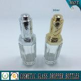 30ml освобождают косметическую стеклянную бутылку с капельницей насоса давления