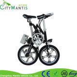 Bici elettrica della bici di aiuto E del pedale della lega di alluminio di 16 pollici con i pedali