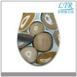 Siège des toilettes décoratif de configuration de caillou de qualité