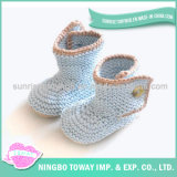 O cofre forte personalizado que tricota manualmente o Crochet tecido caçoa sapatas
