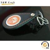 高品質ブランクPUの革金属のキーホルダー(Y02155)