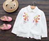 Form-weiße Hemd-Kind-Mädchen Sprung u. Herbst-beiläufige Abnützung-Hemd