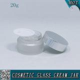 опарник замороженный 20ml косметический стеклянный для сливк с крышкой металла