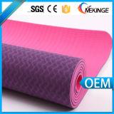 cubierta de la estera de la yoga de la TPE del color 2-Tone con resistencia excelente del resbalón