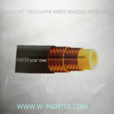 """5/16の"""" Dn8 2本の層ワイヤーは高圧樹脂のホースを編んだ"""