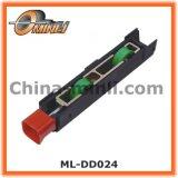 Rouleau réglable pour la porte coulissante et la poulie en plastique de bride de guichet (ML-DD024)