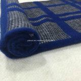 Голубая ткань шерстей Gird ласточки Gry проверки