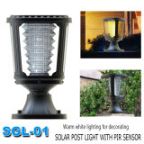White Outdoor Garden LED Solar Pillar Light 1W Fabricante