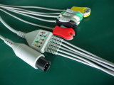 Medical Monitor 6pin IEC Clip 5 Leadwire ECG Cable