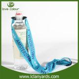 Llavero de titular de botella de colegio profesional con logotipo de serigrafía de poliéster