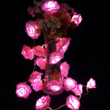 Prix ​​de gros LED 2m20LED Rose Battery Opearated Fairy Lights for Christmas Décoration de la Saint Valentin