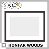 Natürlicher festes Holz-Abbildung-Foto-Rahmen mit weißer Matte