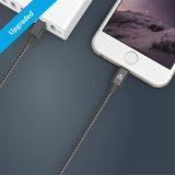 El cable tejido nilón del USB de Anker los 3FT con el conector del relámpago [Mfi certificado] para el iPhone 7/7 6/6s más más 5s/5c/5, iPad FAVORABLE, ventila 2 y más (el gris del espacio)