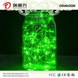 Света шнура, супер яркая теплая веревочка провода зеленого цвета Свет-Зеленая