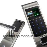 Bloqueo de puerta biométrico material de la huella digital del acero inoxidable (F1)
