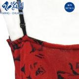 Épaule-Courroies Poitrine-Enveloppées sans manche de V-Collet rouge Exposant-En arrière la robe sexy de mode de dames de lacet