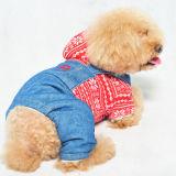 Gestrickter Hund kleidet warmen Jeans-Haustier-Overall