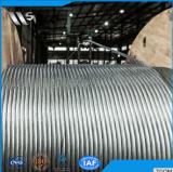 1X 19 гальванизировало веревочку стального провода 1.0~30mm, используемую для нефтянного месторождения, конструкция, морской, петрохимическая, слинг веревочки провода