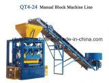 Bloc creux manuel faisant à prix de machine la machine de moulage Qt4-24 de bloc concret