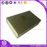 Caixa de presente de papel de empacotamento do cartão magnético luxuoso do fechamento