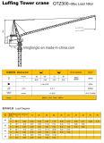 良質、最大最もよい価格Qtz300の水平寄せのタワークレーン-。 容量16t