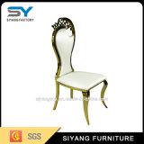 Jantando a cadeira de Chiavari do casamento da mobília com aço do ouro