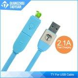 Mikro-Kabel-einziehbares aufladenkabel USB-2016 neuestes buntes 1m 2in1 für iPhone und androides Telefon