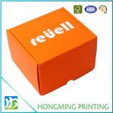 Rectángulo de empaquetado de Keychain de la cartulina anaranjada linda del color