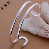 Het in het groot Zilver van de Juwelen van de Manier plateerde Open Armband voor de Mens