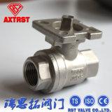 Válvula de esfera do aço inoxidável 2PC com a almofada de montagem ISO5211