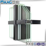 Profil en aluminium/en aluminium d'extrusion de mur rideau/façade